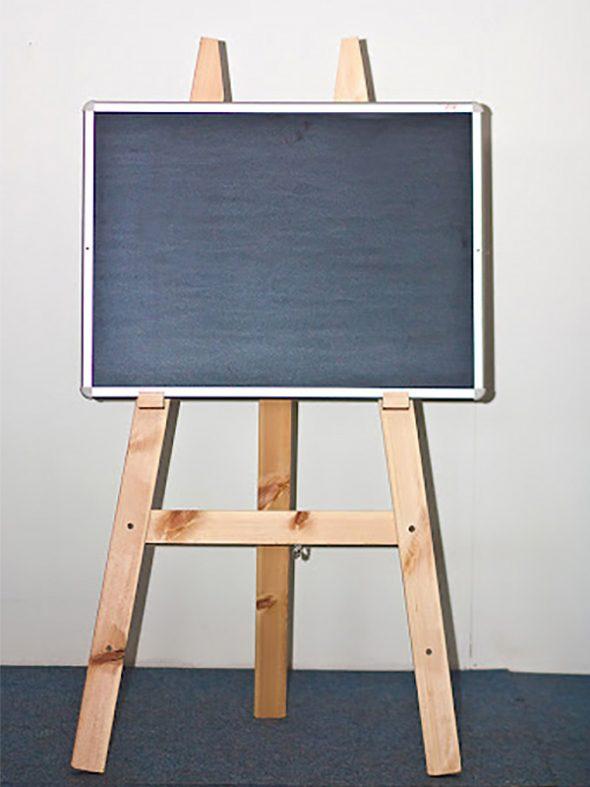 לוח גיר שחור + כן לציור